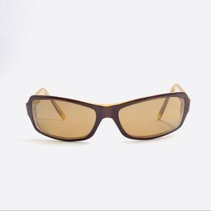 DKNY Brown Oval Sunglasses Frames